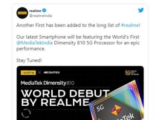Realme confirms it's bringing the first Dimensity 810 smartphone
